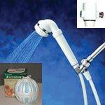 塩素除去シャワーヘッド(ホワイト)+風呂ボール -イメージ